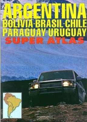 Argentina - Bolivia - Chile - Paraguay - Uruguay Super Atlas - Zagier y Urruty