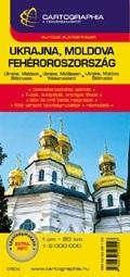 Ukrajna, Moldova, Fehéroroszország autótérkép - Cartographia