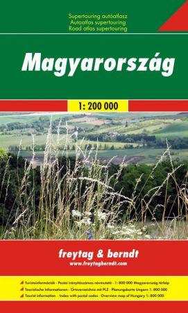 Hungary Supertouring, road atlas - Freytag-Berndt