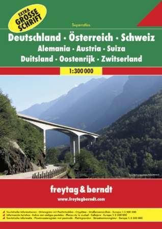 Ausztria - Németország - Svájc szuperatlasz - Freytag-Berndt