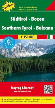 South Tyrol & Bolzano, travel map - Freytag-Berndt Top 10 Tips
