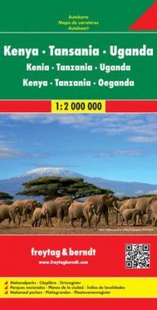 Kenya, Tanzánia, Uganda autótérkép - Freytag-Berndt