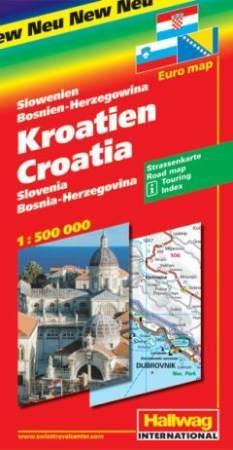 Horvátország autótérkép - Hallwag