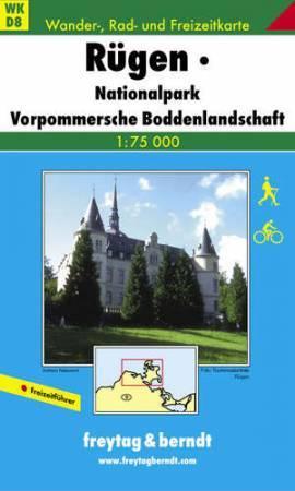 Rügen, Nationalpark Vorpommersche Boddenlandschaft turistatérkép (WKD 8) - Freytag-Berndt