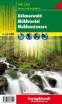 Cseh-erdő, Mühlviertel, Moldva-víztároló turistatérkép (WK 262) - Freytag-Berndt