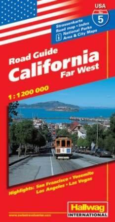 Kalifornia autótérkép - Hallwag
