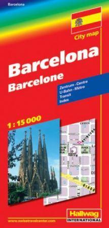 Barcelona térkép - Hallwag