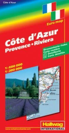 Cote d' Azur autótérkép - Hallwag