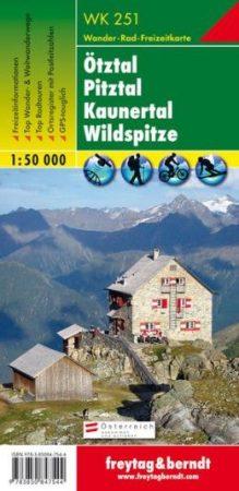Ötztal, Pitztal, Kaunertal, Wildspitze turistatérkép (WK 251) - Freytag-Berndt