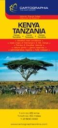 Kenya, Tanzánia térkép - Cartographia