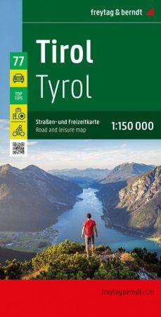 Tyrol, travel map - Freytag-Berndt