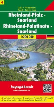 Rajna-vidék-Pfalz, Saar-vidék autótérkép - Freytag-Berndt