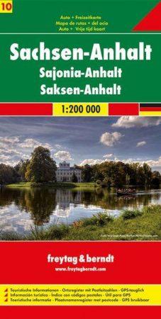 Szász-Anhalt autótérkép - Freytag-Berndt