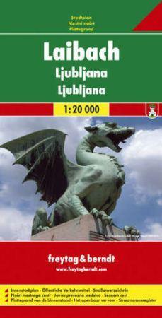 Ljubljana, city map - Freytag-Berndt