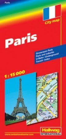 Párizs térkép - Hallwag