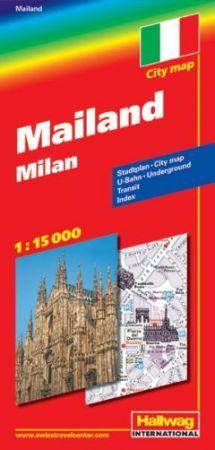 Milánó térkép - Hallwag