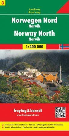 Norvégia (3) autótérkép - Freytag-Berndt