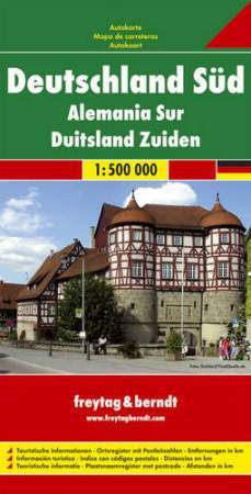 Németország (dél)  autótérkép - Freytag-Berndt