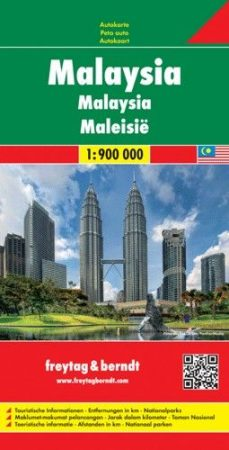 Malaysia, travel map - Freytag-Berndt
