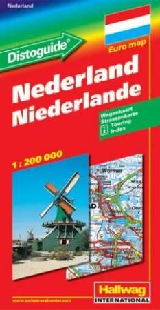 Hollandia autótérkép - Hallwag