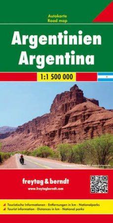 Argentína autótérkép - Freytag-Berndt
