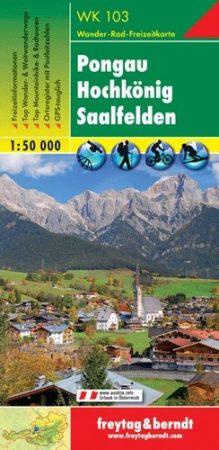 Pongau, Hochkönig, Saalfelden turistatérkép (WK 103) - Freytag-Berndt