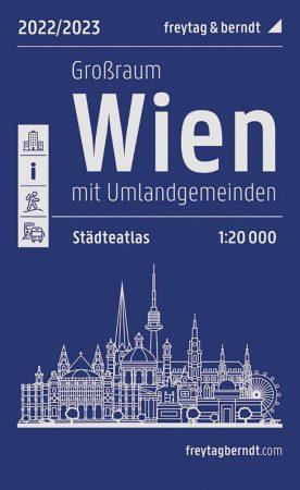 Bécs és környéke atlasz - Freytag-Berndt