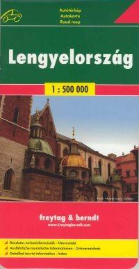 Poland, road map (1:500.000) - Freytag-Berndt