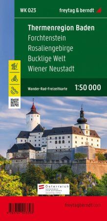 Badeni-fürdővidék, Fraknó, Rozália-hegység, Bucklige Welt, Bécsújhely turistatérkép (WK 023) - Freytag-Berndt