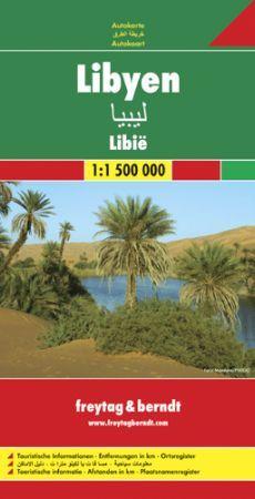 Líbia autótérkép - Freytag-Berndt