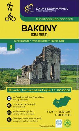 Bakony (dél) turistatérkép - Cartographia