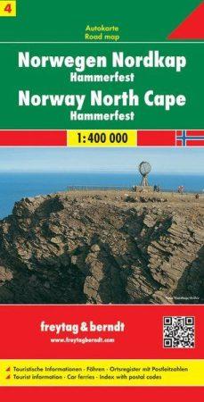 Norvégia: Északi-fok, Hammerfest autótérkép - Freytag-Berndt