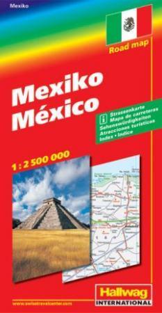 Mexikó autótérkép - Hallwag