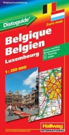 Belgium és Luxemburg autótérkép - Hallwag