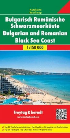 Bulgarian and Romanian Black Sea coast, travel map - Freytag-Berndt