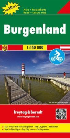 Burgenland autótérkép - Freytag-Berndt Top 10 Tips
