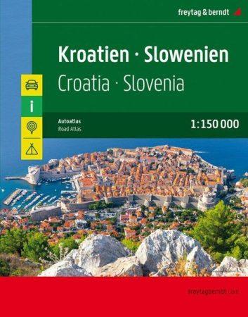 Croatia & Slovenia, road atlas - Freytag-Berndt