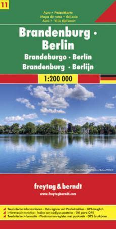 Brandenburg, Berlin autótérkép - Freytag-Berndt