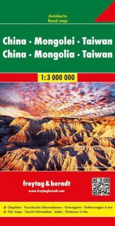 Kína, Mongólia & Tajvan autótérkép - Freytag-Berndt