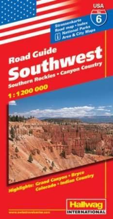 Southwest (a Sziklás-hegység déli része) autótérkép - Hallwag