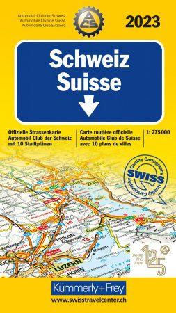 Svájc autótérkép - Hallwag