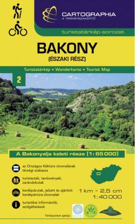 Bakony (észak) turistatérkép - Cartographia