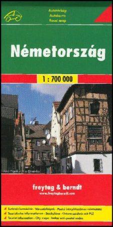 Németország autótérkép (1:700 000) - Freytag-Berndt