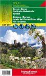 Bolzano, Merano, dél-tiroli borút, Val Sarentino turistatérkép (WKS 1) - Freytag-Berndt