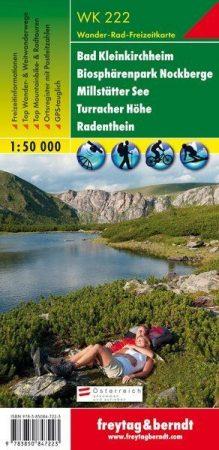 Bad Kleinkirchheim, Biosphärenpark Nockberge, Millstätter See, Turracher Höhe, Radenthein turistatérkép (WK 222) - Freytag-Berndt