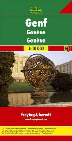 Genf várostérkép - Freytag-Berndt