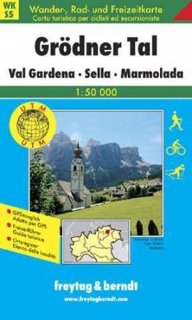 Grödner Tal, Sella, Marmolada turistatérkép (WKS 5) - Freytag-Berndt