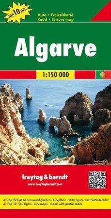 Algarve  autótérkép - Freytag-Berndt Top 10 Tips