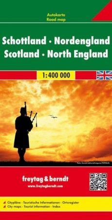 Skócia és Észak-Anglia autótérkép - Freytag-Berndt