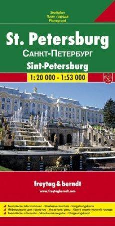 Szentpétervár várostérkép - Freytag-Berndt